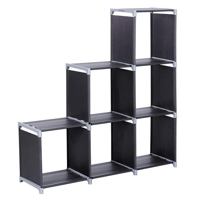 SONGMICS 3-Tier Storage Cube Closet Organizer Bookcase $19.99