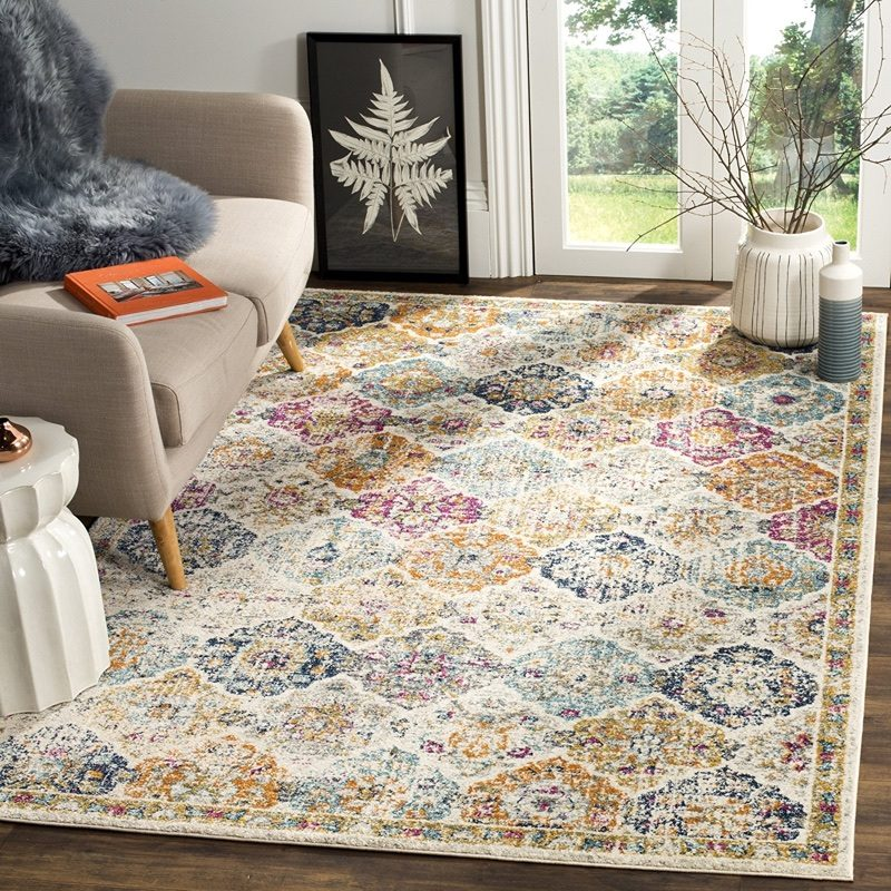 "Safavieh Madison Collection MAD611B Bohemian Area Rug 5'1"" x 7'6"" $79.99"