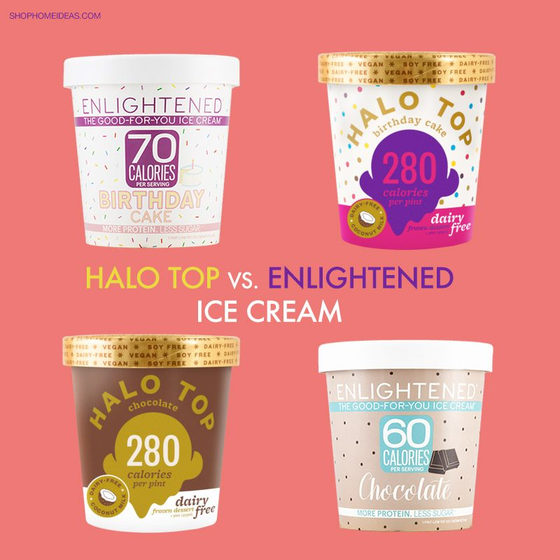 Halo Top Vs Enlightened Ice Cream