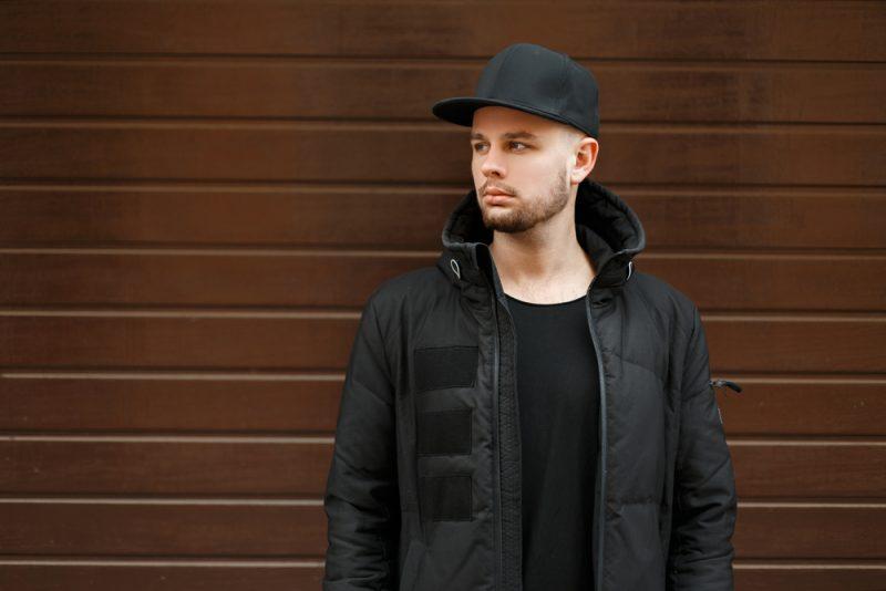 Guy in Black Wearing Cap