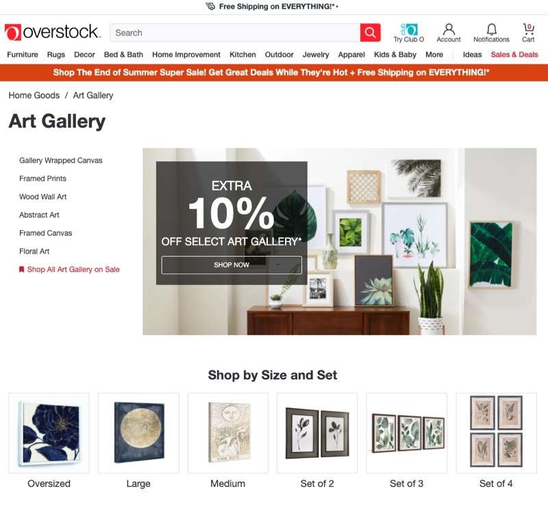 Overstock Artwork