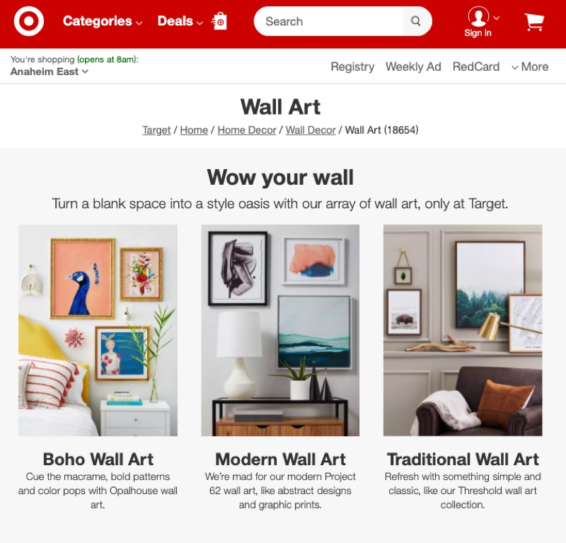 Target Wall Art