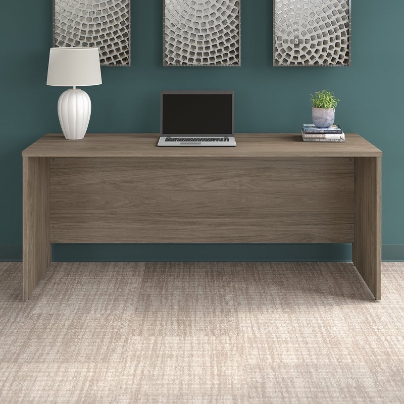 Bush Business Furniture Office 500 Credenza Desk 72W x 24D in Taupe $277.49