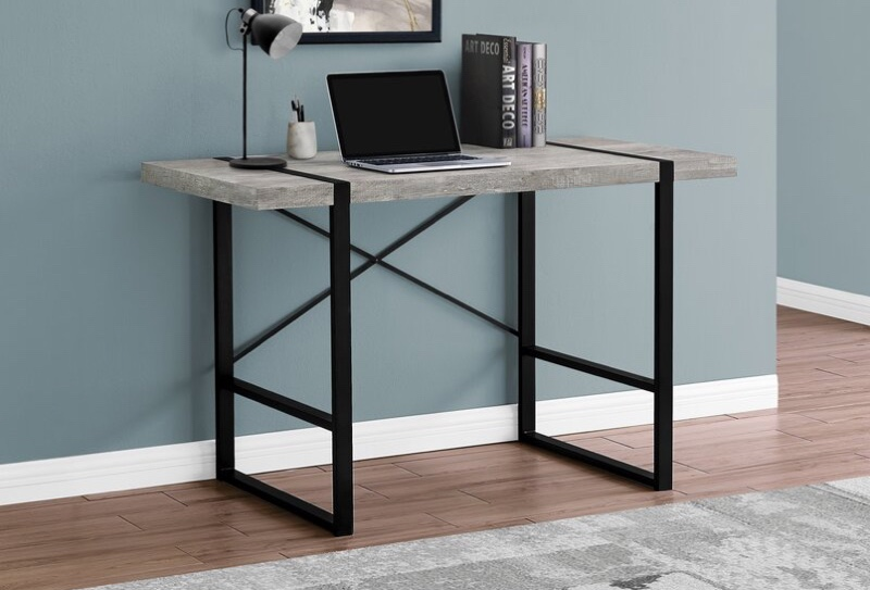 Gracie Oaks Fullilove Desk in Taupe/Black $177.99