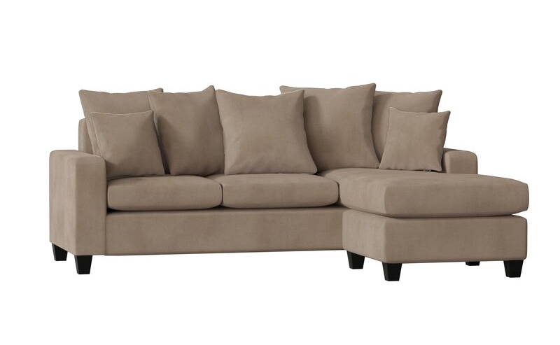 "Latitude Run Laurie 82"" Reversible Sofa & Chaise in Bulldozer Chamois $599.99"