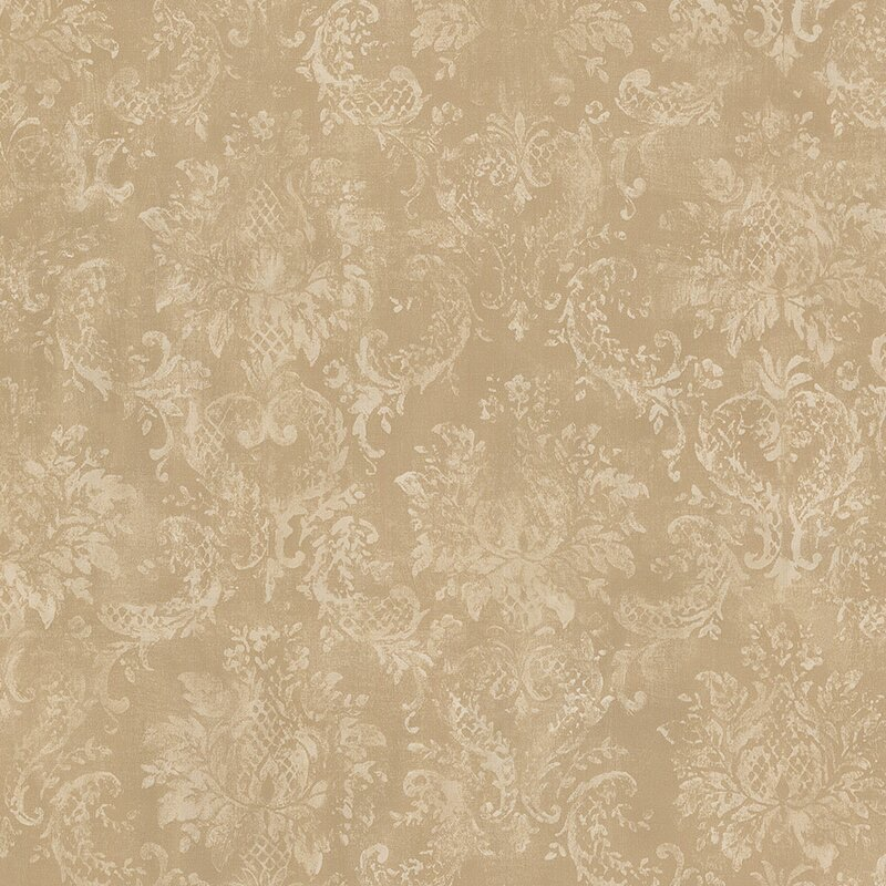 "Ophelia & Co. Hamerton 32.8"" x 20.5"" Wallpaper Roll in Beige $1.05/sq. ft."
