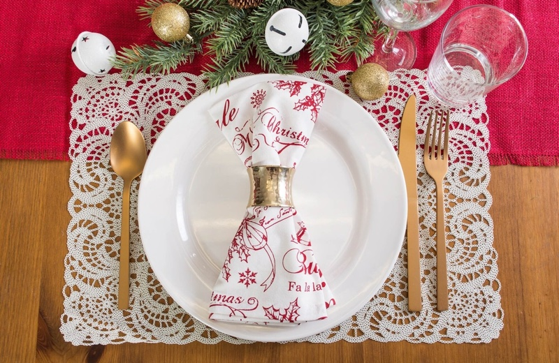 The Holiday Aisle McMartin Christmas Print Napkin (Set of 6) $25.99