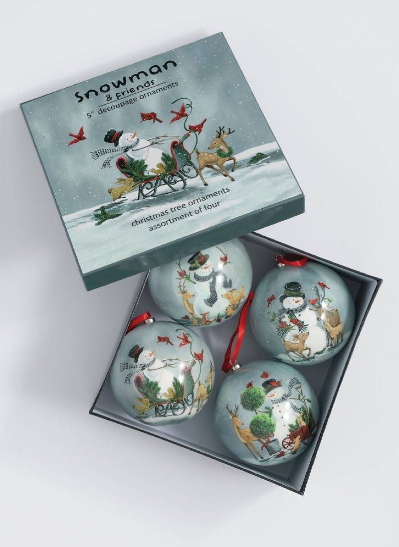Sullivans Snowman & Sidekicks Ornament Set of 4 $30.99