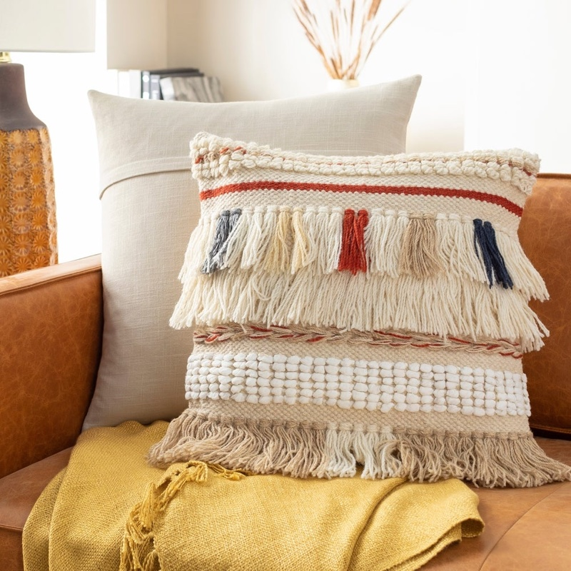 Artistic Weavers Fania Handwoven Bohemian Shag Throw Pillow $50.99