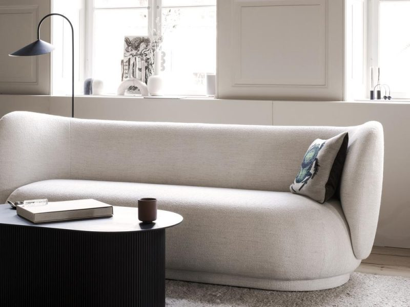 Ferm Living Rico Sofa 3 - Bouclé in Off-White $4,479