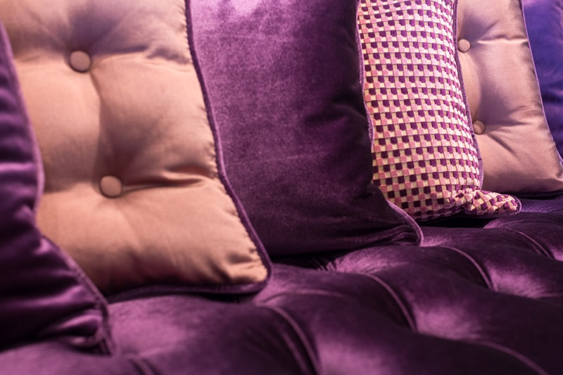 A rich purple color palette is great way to take on the jewel tone trend.