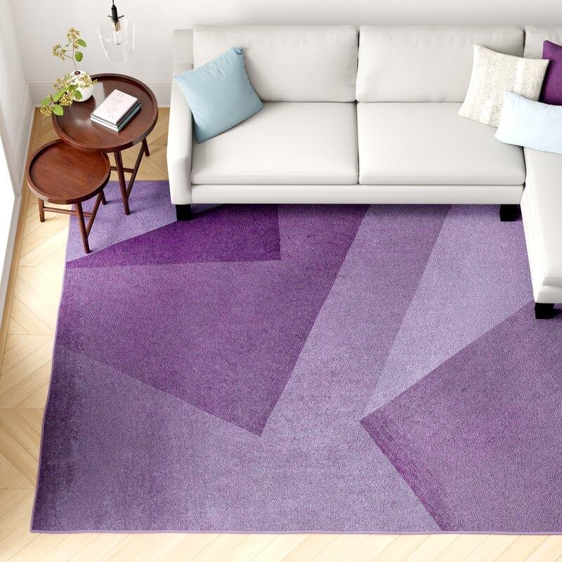 Foundstone Alysha Abstract Purple Area Rug $239.99